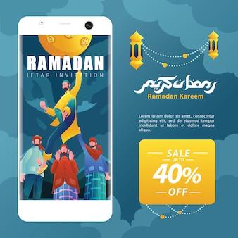 Ramadan kareem character