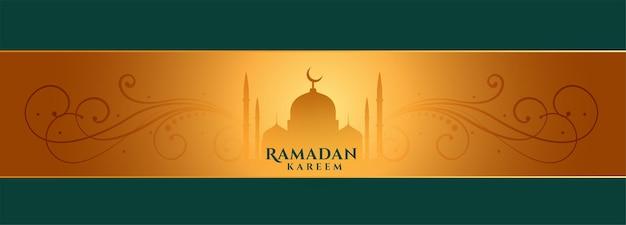 Ramadan kareem elegancki projekt transparentu festiwalowego