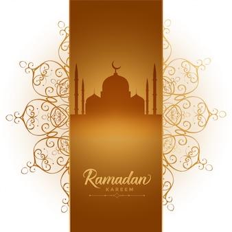 Ramadan kareem festiwal elegancki ozdobny tło