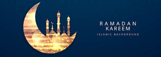 Ramadan kareem festiwal szablon transparent