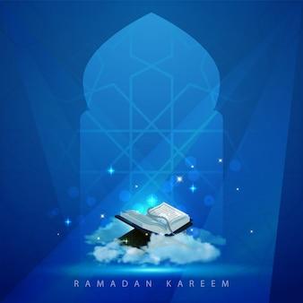 Ramadan kareem islamska karta z pozdrow