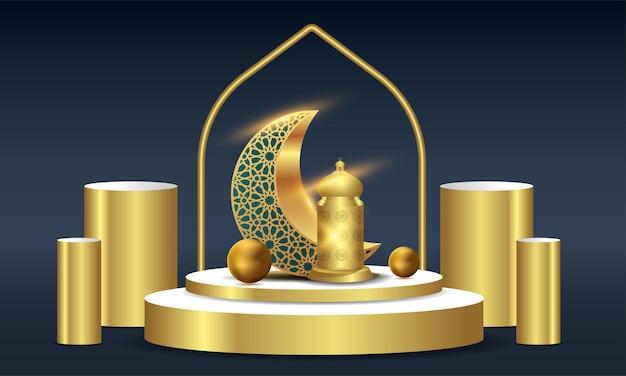 Ramadan kareem islamska karta z pozdrowieniami tło ilustracja