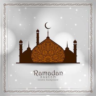 Ramadan kareem islamski festiwal piękne tło