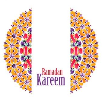 Ramadan kareem islamski wzór tła