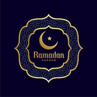 Ramadan kareem islamski złoty tło