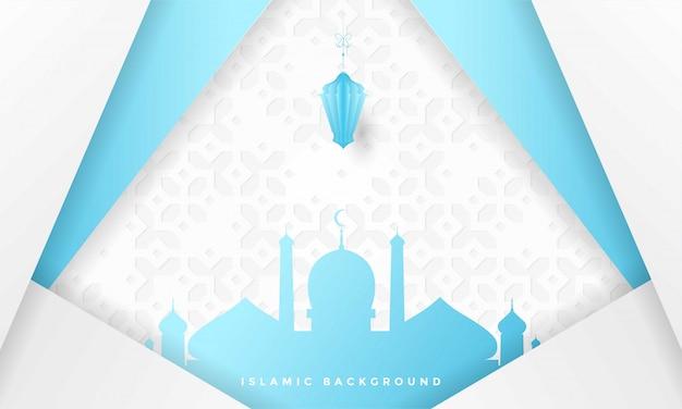 Ramadan kareem islamskie pozdrowienia tło