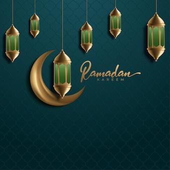 Ramadan kareem islamskie tło karty z pozdrowieniami