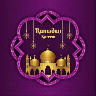 Ramadan kareem islamskie tło