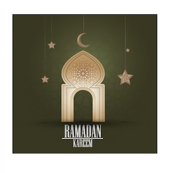 Ramadan kareem islamskiego pozdrowienia projekt