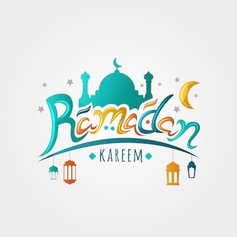 Ramadan kareem kartkę z życzeniami