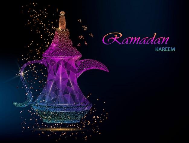 Ramadan Kareem Kartkę Z życzeniami Premium Wektorów