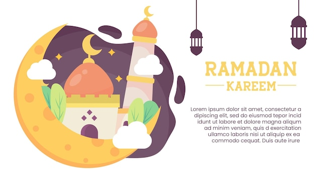 Ramadan kareem lub eid mubarak pozdrowienie