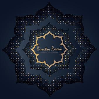 Ramadan kareem luksusowe tło