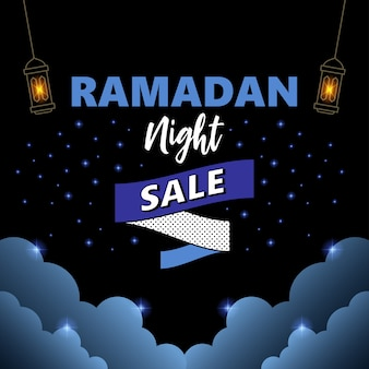 Ramadan kareem noc sprzedaż tło