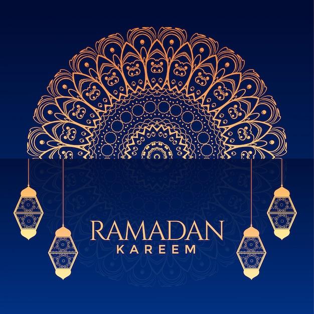 Ramadan kareem ozdobne tło dekoracyjne