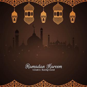 Ramadan kareem piękne tło islamskie