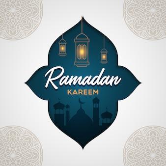 Ramadan kareem piękne tło