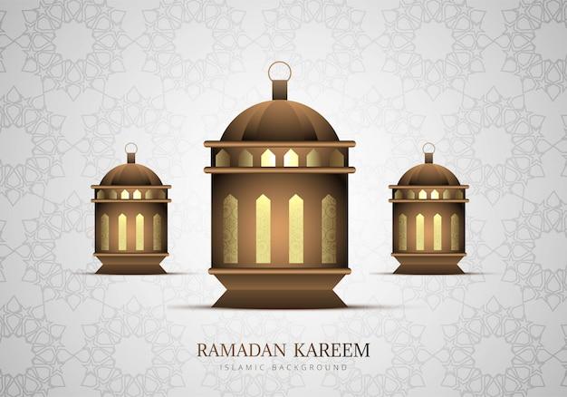 Ramadan kareem piękny lampowy tło