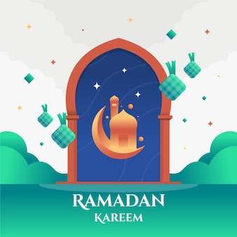 Ramadan kareem płaska konstrukcja eid mubarak