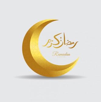 Ramadan Kareem powitanie islamskiego projektu symbo