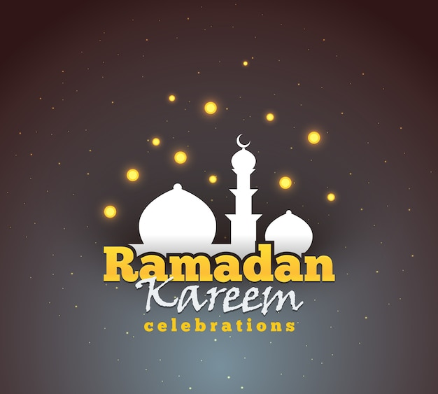Ramadan kareem powitanie tło. kolorowe na pocztówkę, baner internetowy i materiał do drukowania. ilustracja.