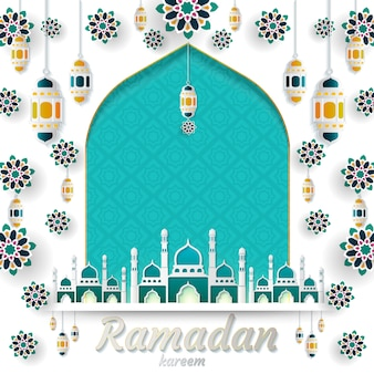 Ramadan kareem projektu zaproszeń