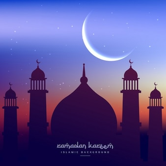 Ramadan kareem tła z życzeniami