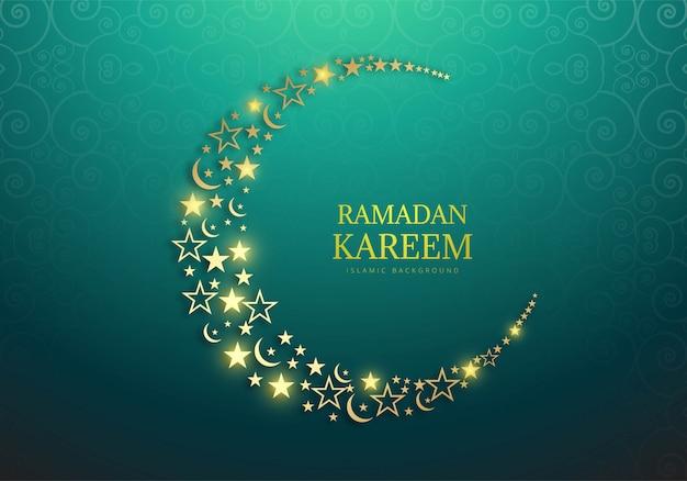 Ramadan kareem tło dekoracyjne karty religijne