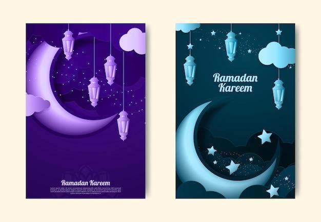 Ramadan kareem tło projektu