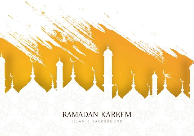 Ramadan kareem tło wakacje kartkę z życzeniami
