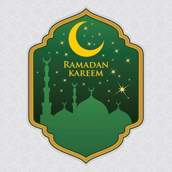 Ramadan kareem tło zielony ilustracja
