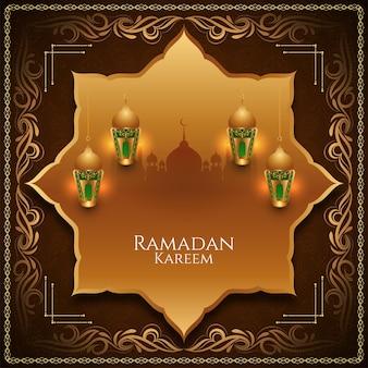 Ramadan kareem tradycyjny islamski festiwal tło