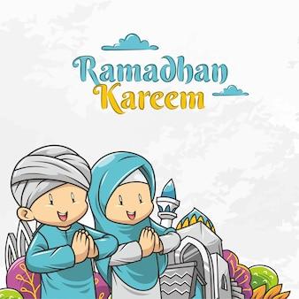 Ramadan kareem w kreskówce