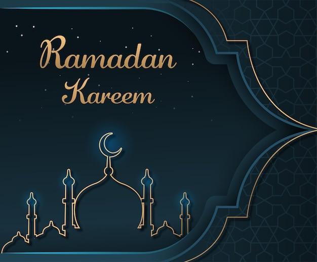 Ramadan kareem z meczetem