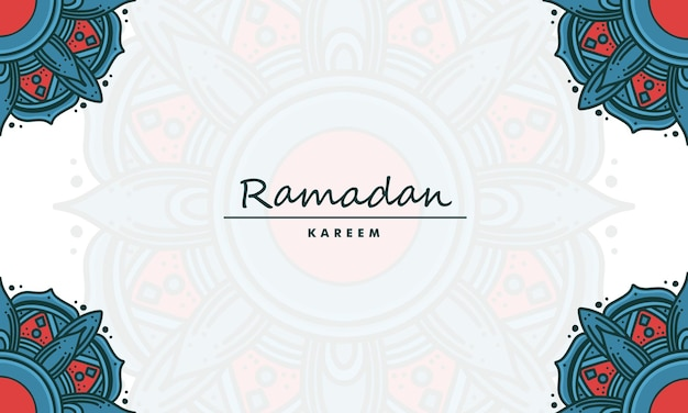 Ramadan kareem z tłem mandali