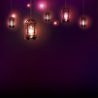 Ramadan latarnia tło