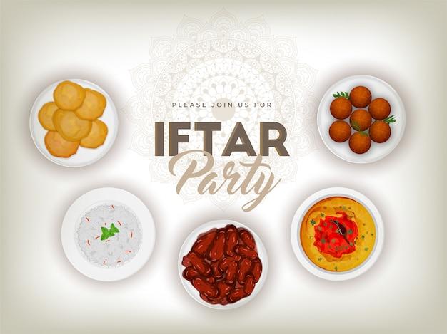 Ramadan mubarak, koncepcja partii iftar.