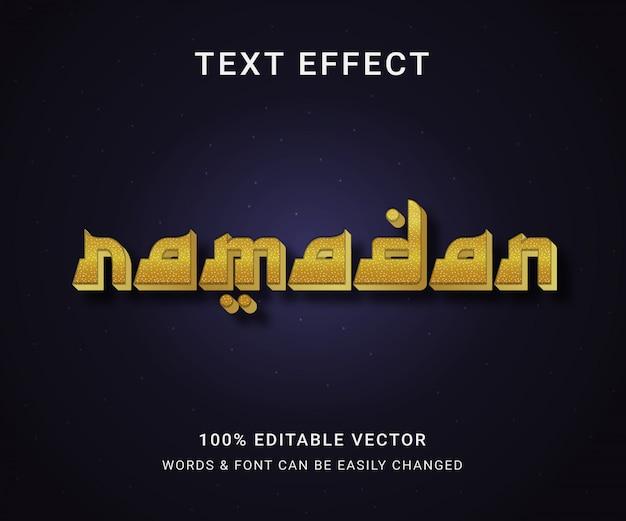 Ramadan pełny edytowalny efekt tekstowy