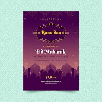 Ramadan pionowy szablon ulotki