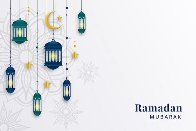 Ramadan pozdrowienie tła