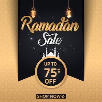 Ramadan sezon sprzedaż plakat projekt z latarnią