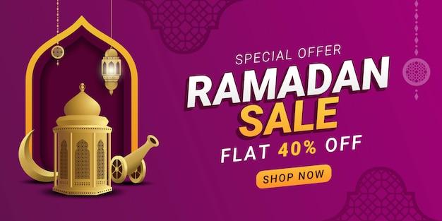 Ramadan sprzedaż rabat szablon transparent promocja