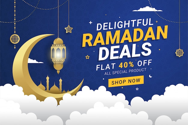Ramadan sprzedaż transparent szablon tło
