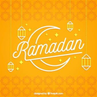 Ramadan tło z lampy w stylu płaski