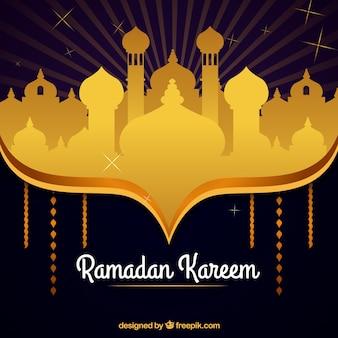 Ramadan tło z meczetową sylwetką