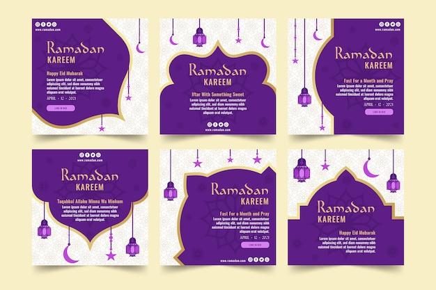 Ramadanowa kolekcja postów na instagramie