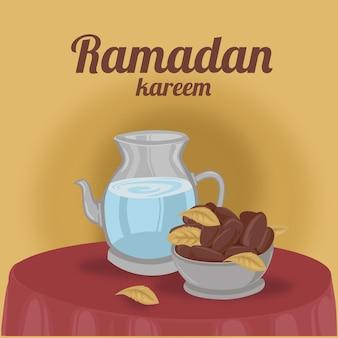 Ramadhan kareem fasting menu