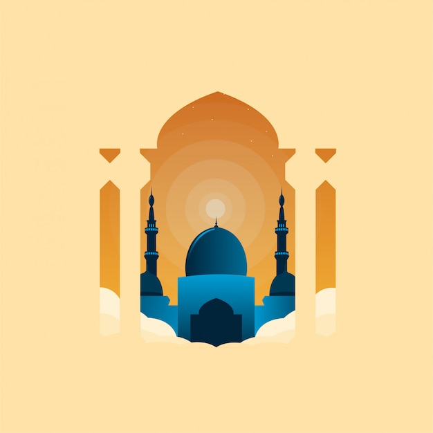 Ramadhan meczet ilustracja