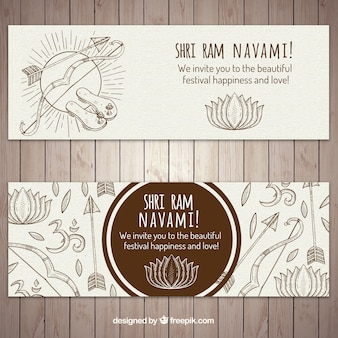 Ramanawami transparenty ze strzałkami i łuki
