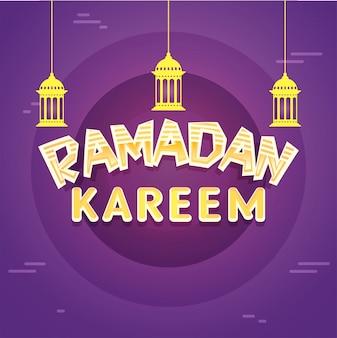 Ramandan tle z arabskimi lampami